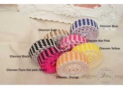 Fold Over Elastic - Print (Chevron) - 2m length