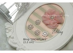 Bling Snowflake S-A, Flat Back, Pack of 5 ( 2.2cm)