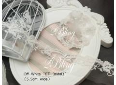 Non Stretch Lace, Off-White Gauze, ET-Bridal 3  (5.5cm) -1m length