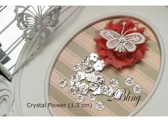Arcylic Crystal Flower (Pack of 25)