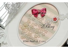 Ivory Star Pearls - 1.2cm (Pack of 25)
