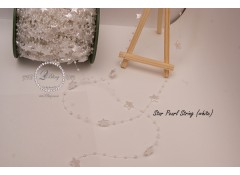 """Star Pearl String"" -  White colour - 1m length"