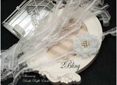 Ruffle Elastic, Shimmery Double, White  (2.5cm wide)  - 2m length
