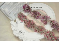 "Shabby Flowers, ""ROSE"" Pattern - 6.5cm (Pack of 4)"