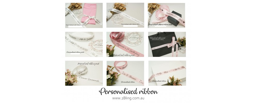 custom ribbon print