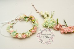 DIY flower crown (using flowers with wire)