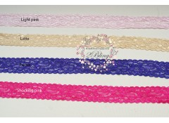 Elastic Lace, COLOR - 2.9 cm Wide -2m length