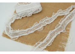 White elastic, Garter, 3.8cm wide, 1m length