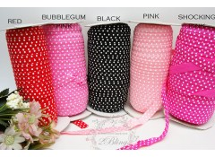 Fold Over Elastic - Print (Large Polkadot) - 2m length