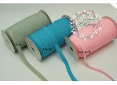 Fold Over Elastic, Glittery - 1.5cm wide - 2m length