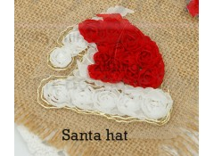 """Christmas - Santa Hat"" Applique, Pack of 2"