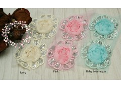 Sequin Flower Applique, ROUND, 9.5cm, Pack of 2