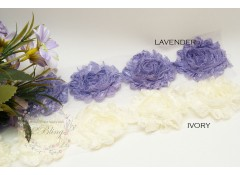 Lace Shabby Flowers (Pack of 4) - 6cm