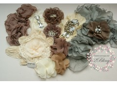 Mix Assorted pack (AMP#49), Mocha, Ivory, Neutral tone