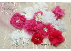 Mix Assorted pack (AMP 52), Hot pink, white