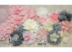 Mix Assorted pack (AMP#54), Antique pink, Ivory, Grey