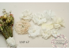 Mix Assorted pack (AMP #67) Offwhite, Beige, White
