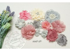Mix Assorted pack (AMP #69) Dusty rose, grey