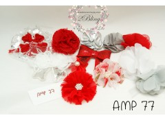 Mix Assorted pack (AMP 77) Red, Grey, White