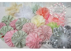 Mix Assorted pack (AMP#50) Pink blush, Dull mint