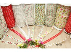 Mix Pack Elastic (MPE 14) 10 meters, Fold over elastic, Christmas