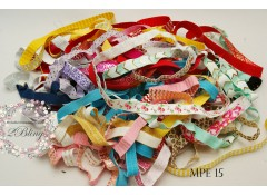 Mix Pack Elastic (MPE#15) 30 meters, Fold over elastic (Pattern/Foil)