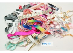 Mix Pack Elastic (MPE#17) 30 meters, Fold over elastic (Pattern/Foil/ Glitter)