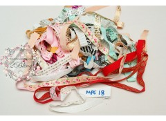 Mix Pack Elastic (MPE#18) 30 meters, Fold over elastic (Pattern/Foil/ Glitter)