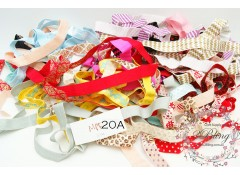 Mix Pack Elastic (MPE 20A) 30 meters, Fold over elastic (Pattern/Foil/ Glitter)