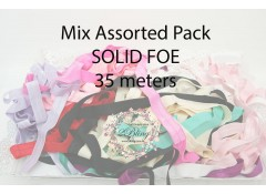 Mix Pack Elastic FOE, SOLID, 35 meters, Fold over elastic