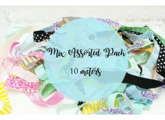 Mix Surprise Pack Elastic 10 meters, Fold over elastic Patterns, Foil