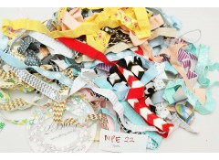 Mix Pack Elastic (MPE 22) 30 meters, Fold over elastic (Pattern/Foil/ Glitter)