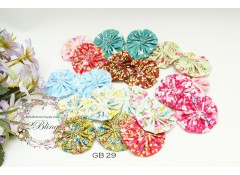 Mix Assorted Grab Bag, GB29, Pack of 20, yoyo fabric flower