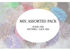 Mix Assorted Surprise pack, Shabby flowers, Pack of 40