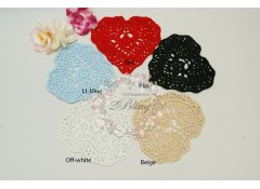Doilies HEART,14 cm, Pack of 2