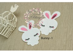 Bunny applique patch -1, (10.5 x 7 cm), Pack of 2
