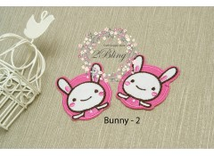 Bunny appliques patch -2, (5.5 x 6.5 cm), Pack of 2