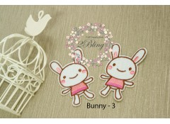 Bunny appliques patch -3, (7.5 x 4 cm), Pack of 2