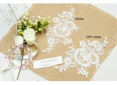 Bridal Lace Embroidery Motif 14, 20.5 x 13  cm