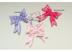 BOW Padded Applique (4.2 x 4 cm), Pack of 3