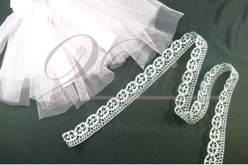 Non Stretch Lace- SILVER - 2.5 cm -1m length