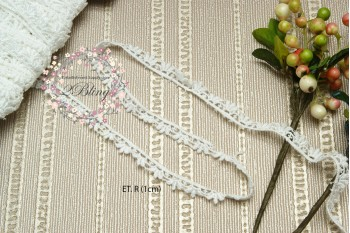 Non Stretch Embroidery Lace Trim, (ET.R) - 1 cm -1m length