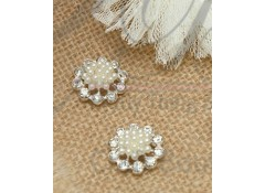 Bling Pearl Cluster, PC3, flat back, Pack of 5 (1.9 cm)