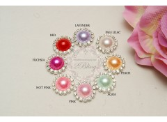 Bling C18 colored pearl, Flat Back, Pack of 5 (1.8 cm)