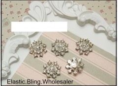 Bling Snowflake S-B, Flat Back, Pack of 5 (2.5cm)