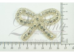 "Bridal Rhinestone Applique 1 - ""RHINESTONES BOW"""