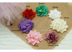 Kanzashi Fabric Flower, Pack of 2
