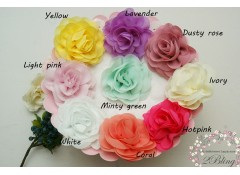 "Chiffon Flower ""BLOOM"" (L, 9 cm), Pack of 2"