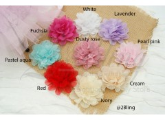 Crinkle Dahlia & Lace (8cm), Pack of 2