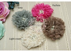 LACEY Flower, 9cm, Pack of 2